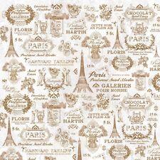 Fat trimestre tentations rose Tour Eiffel Paris coton tissu de matelassage-Makower