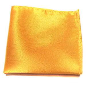 Mens Silk Satin Pocket Solid Square Wedding Party Office Hankerchief Suit Hanky