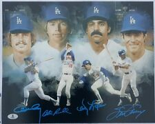 Ron Cey Steve Garvey Bill Russell Davey Lopes Auto 12x15 Photo Dodgers Infield