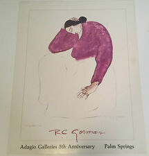 """RC GORMAN SIGNED Poster, """"ARLA"""" 1986  Size is 24"""" X 30"""""""