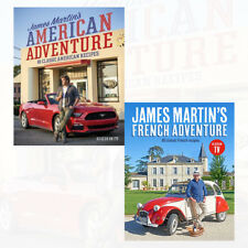 James Martin's American Adventure and French Adventure 2 Books Collection Set UK