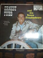 Ernest Tubb & His Texas Troubadours LP, VG+ First Pressing in Shrink Vocalion