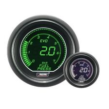 Genuine Prosport Evo 52mm Green White Gauge Fuel Pressure BAR with sender