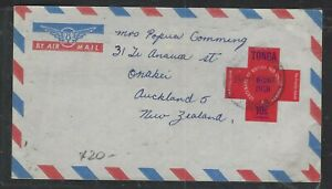TONGA  (P1402B)   FREE FORM  1970 RED CROSS 10/- A/M COVER TO NEW ZEALAND