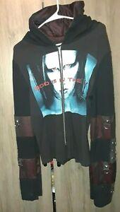 Vtge 90s Marilyn Manson God Is In The TV Zip up Hoodie Jacket Rock Metal - Read