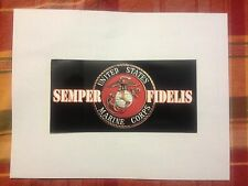 USMC Bumper Sticker Semper Fidelis Bumper Sticker Marine Sticker free ship