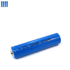 4 pcs 3.7V 10440 AAA 3A 600mAh Li-ion Rechargeable Battery CAN