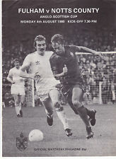 FULHAM V NOTTS COUNTY ANGLO SCOTTISH CUP 4/8/80