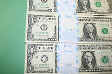 2006 3 ONE DOLLAR STAR NOTES Packs FRB Kansas City, Chicago and San Francisco