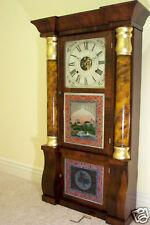 2 Seth Thomas Glass Tablets Triple Decker Empire New Size - Antique Clock Parts