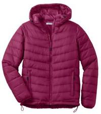 NEW Port Authority Women's Hooded Puffy Jacket Ladies Coat Medium-4XL L313