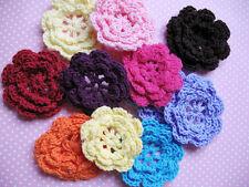 """20ps Cute 2""""Crochet Spring Flower Appliques-Mix Colors C020"""