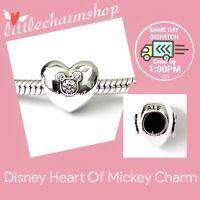 New Authentic Genuine PANDORA Disney Heart Of Mickey Charm - 791453CZ RETIRED
