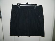 Women's Izod Black & Blue Pinstripe Golf Skirt Size 2