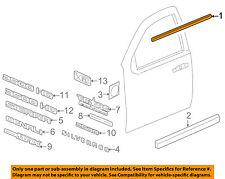 GM OEM Front Door Window Sweep-Belt Molding Weatherstrip Right 20921215