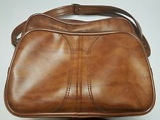Vintage ENCORE BY AIR WAY Brown Leather carry on travel bag *NERDARY*