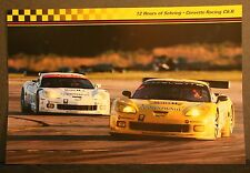 Corvette C-6R 2006 #3 #4 white yellow Sebring 12 hour race car poster 18x12