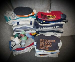 #105 Huge Bundle Of Baby Boys Clothes Age 3-6 Months 100 Items