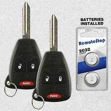2 For 2007 2008 2009 2010 2011 Jeep Compass Patriot Wrangler Car Remote Key Fob