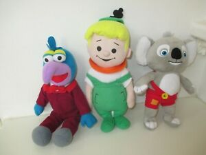 3 Plush Toys Include The Jetsons Eelroy, The Muppets Gonzo and Blinky Bill Koala