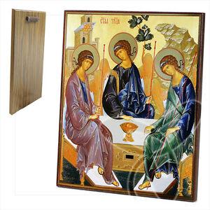 Ikone Heilige Dreifaltigkeit Holz 20 x 24 icon икона Троица