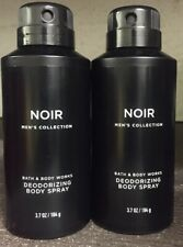 Bath & Body Works Men's Collection NOIR Deodorizing Deo Spray 2 Pack NEW