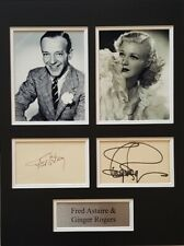 FRED ASTAIRE & GINGER ROGERS Signed 16x12 Photo Display TOP HAT COA