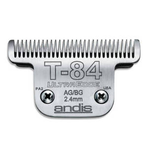 Andis UltraEdge Detachable Blade, Size #T-84 - Leaves 2.4mm Fits Andis, Wahl, Os