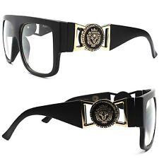 Millionaire Swag Hip Hop Rapper DJ Night Club Matte Black Clear Lens Eye Glasses