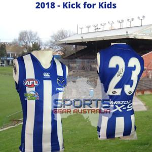 2018 North Melbourne Kangaroos AFL KICK FOR KIDS Player Issue Guernsey