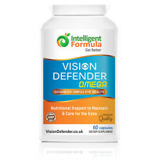 VISION DEFENDER OMEGA: Dry Eye/Macular/Eye Care Omega-3 Pure Fish Oil softgels