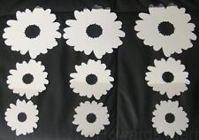 9 Self Adhesive hOme Decor Flower Bathroom Bedroom hOme Mirror Wall Stickers