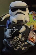 Disney Star Wars Storm Trooper Plush Blanket Hugger Throw Set White Gray NWT