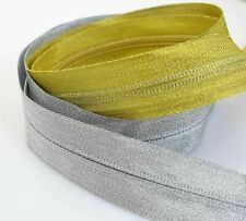4Meters Gold Silver Open-End Nylon Zipper For Coat Clothes Garment Accessories