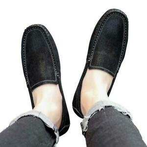 Mens Loafers Shoes Faux Leather Lightweight Casual Driving Flats Moccasins 45