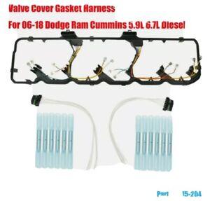 615-204 Valve Cover Gasket Harness Fit 06-18 Dodge Ram Cummins 5.9L 6.7L Diesel