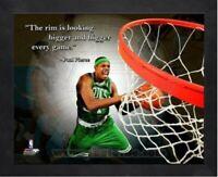 "Paul Pierce Boston Celtics NBA Pro Quotes Photo (Size: 12"" x 15"") Framed"
