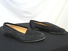 Walter Steiger Italy Luxury Black Suede Loafers Shoes Men Size 9
