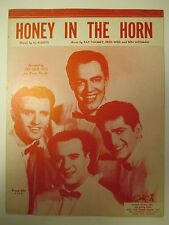 Vintage 1953 Honey in the Horn The Four Acres Al Aberts Vocal Sheet Music