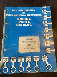IH INTERNATIONAL DT-414/466 Diesel Engine Parts Manual Book crawler tractor list