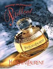 PUBLICITE ADVERTISING 065  1995  YVES SAINT LAURENT parfum femmes qui  pétillent