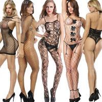 Womens Lingerie Black Lot Lace Dress G-string Underwear Babydoll Sleepwear Sets
