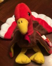 Vintage Ty Beanie Babies Gobbles the Turkey 1996 With Errors on Tag