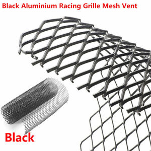 UNIVERSAL ALUMINUM CAR MESH GRILL KIT 12x6mm SILVER body bumper Grille Nest
