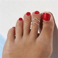 Lots Celebrity Jewelry Retro Silver Adjustable Open Toe Ring Finger Foot Hot