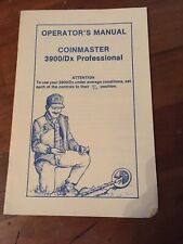 Whites Coinmaster 3900/Dx Pro Metal Detector Instruction  Operators Manual Book