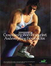 1988 Puma XTG Cross Training Shoes Sneakers Muscle Athlete  Vtg Print ad