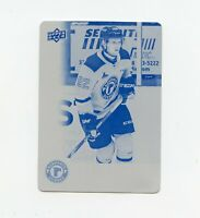 19/20 UPPER DECK CHL CYAN PRINTING PLATE #73 ANTHONY GAGNON 1/1 REMPARTS *69097