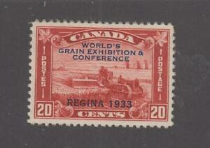 CANADA # 203 VF-MNH WORLD GRAIN  EXHIBITION 20cts RED CAT VALUE $120 (WGE33)