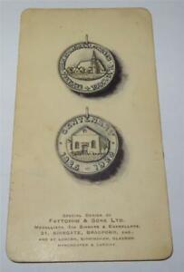 FATTORINI & SONS DESIGN FOR BETHESDA CHURCH BLACKPOOL MEDALLION 1925     829